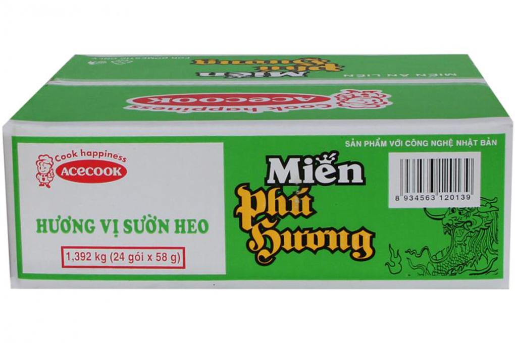 Miến đậu xanh Phú Hương hương vị Sườn heo gói 58g