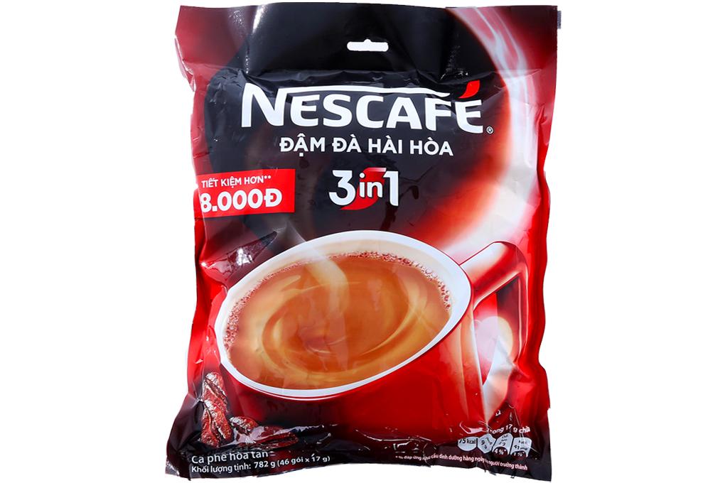 Cà phê sữa NesCafe đậm đà hài hoà gói 17g (bịch 46 gói)
