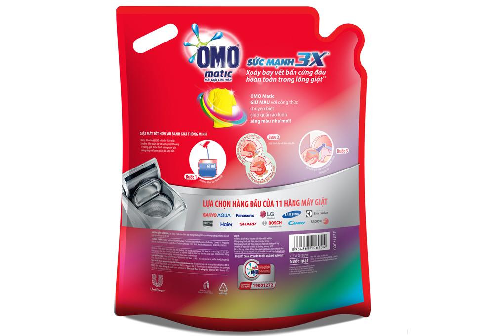 Nước giặt Omo sáng màu túi 2.4 kg