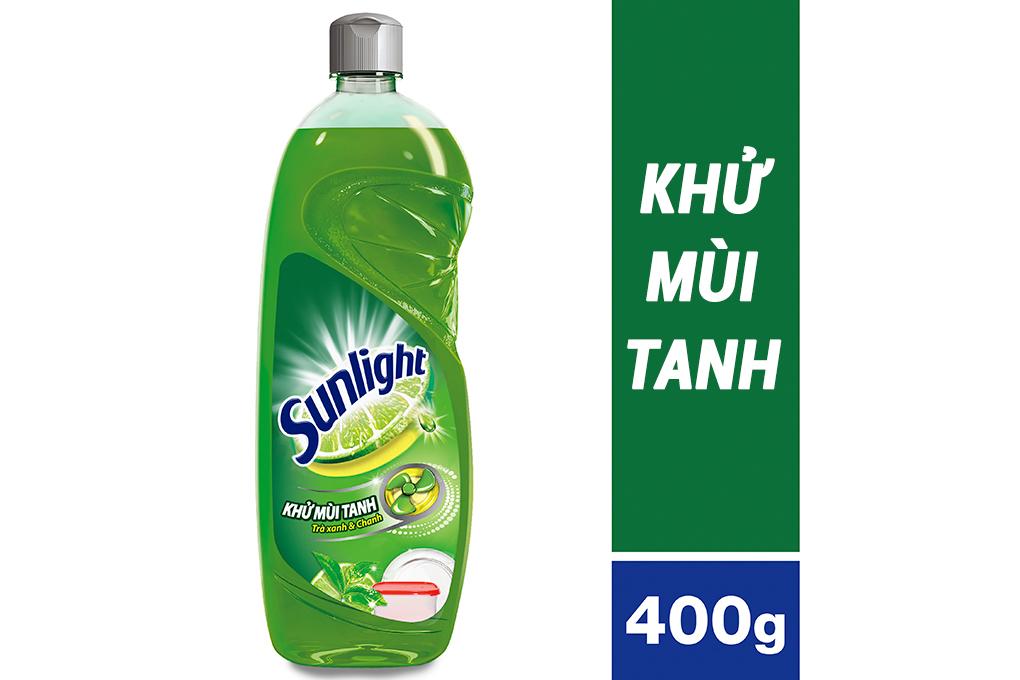 Nước rửa chén bát Sunlight khử mùi tanh 400g