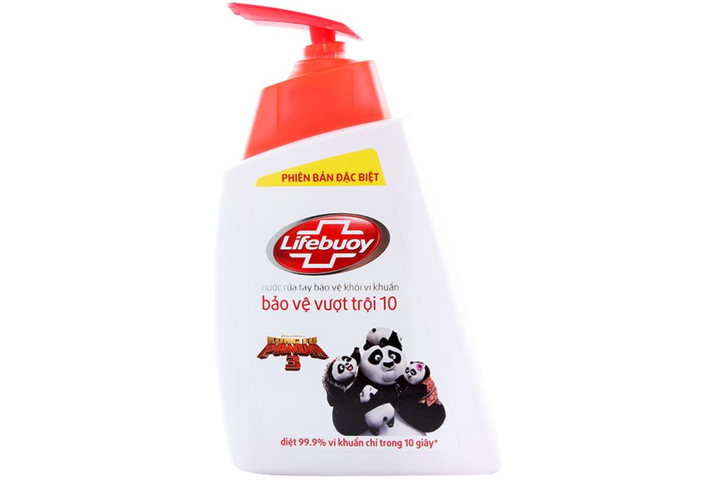 Nước rửa tay Lifebuoy bảo vệ vượt trội chai 493ml