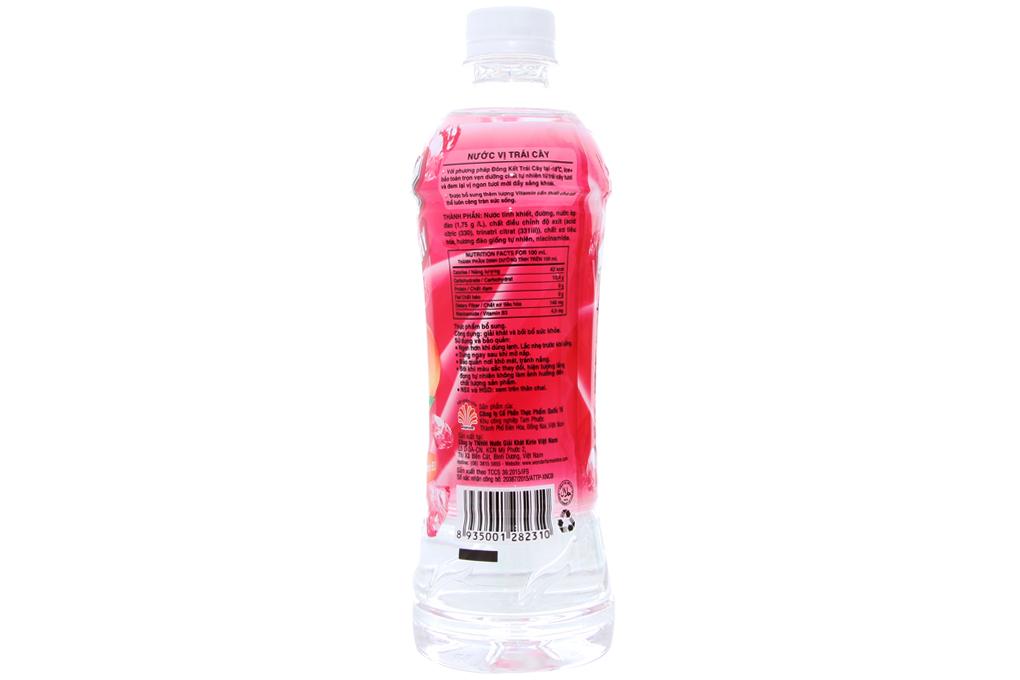 Nước trái cây Ice+ vị Đào chai 490ml
