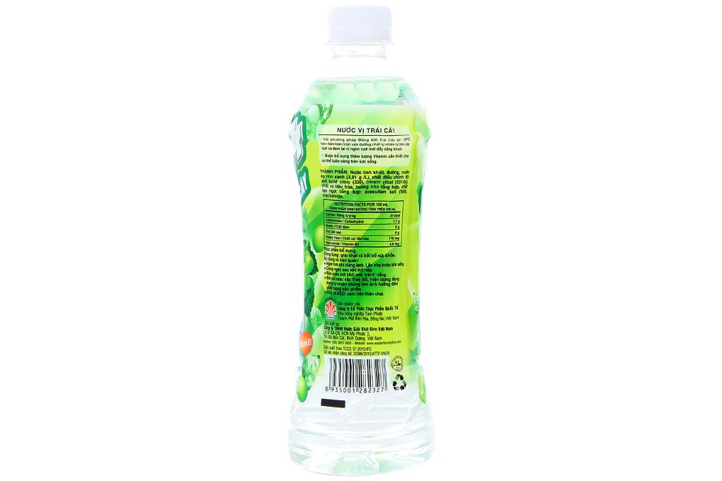 Nước trái cây Ice+ vị Nho xanh chai 490ml