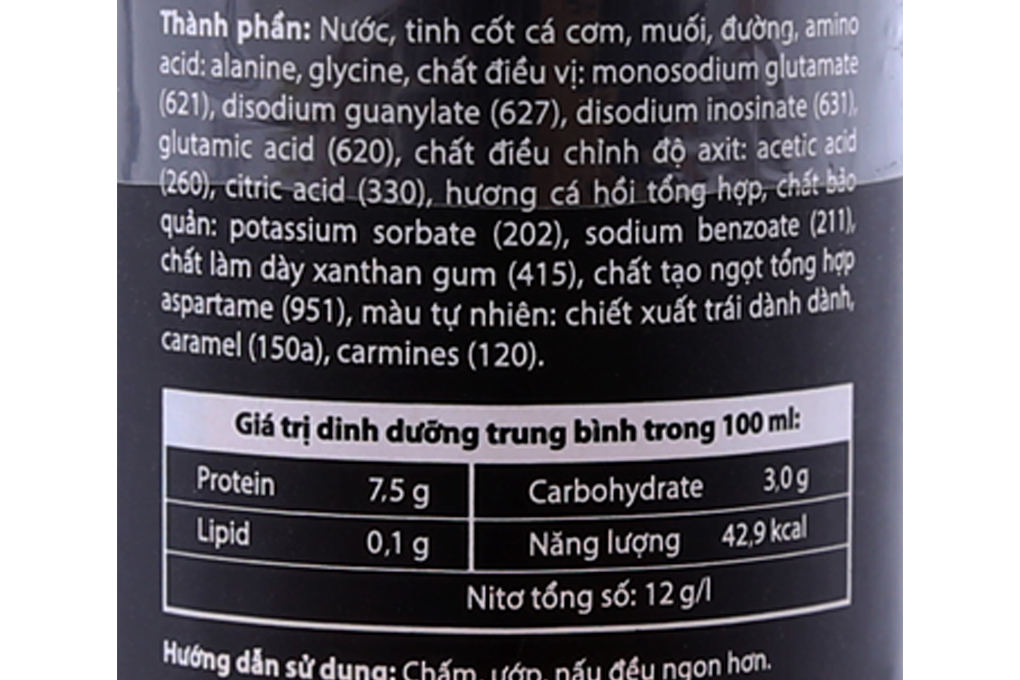 Nước mắm CHIN-SU hương cá hồi chai 500ml