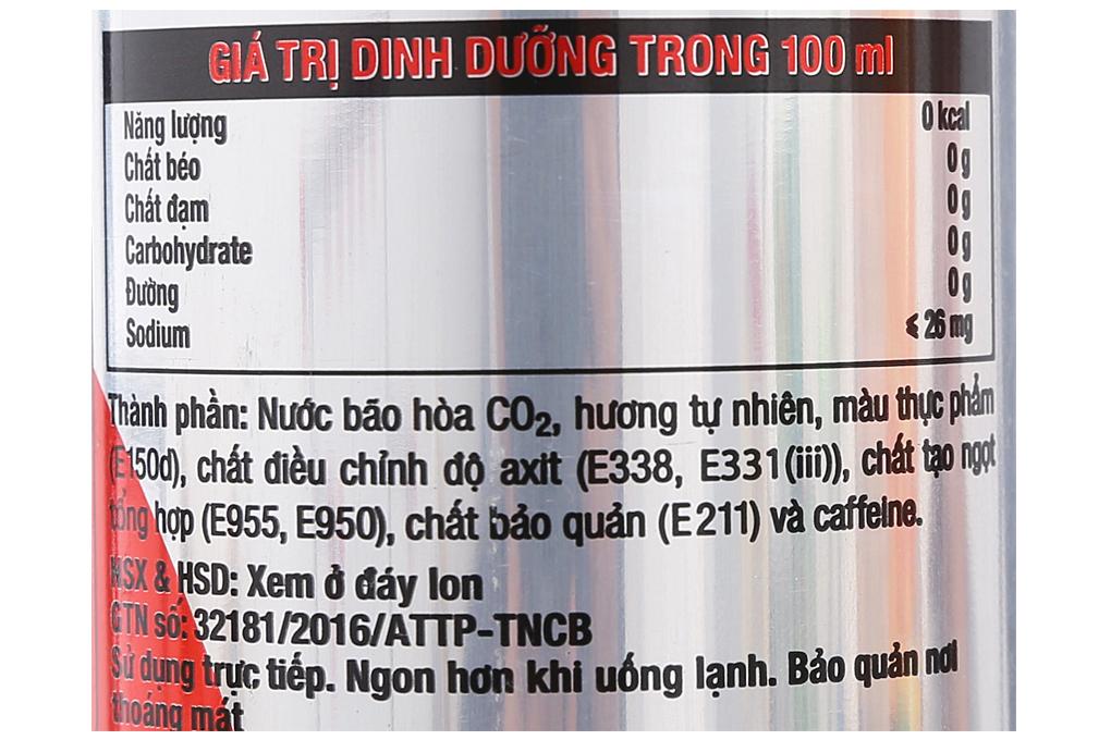 Nước giải khát có ga Coca Cola light sleek lon 330ml