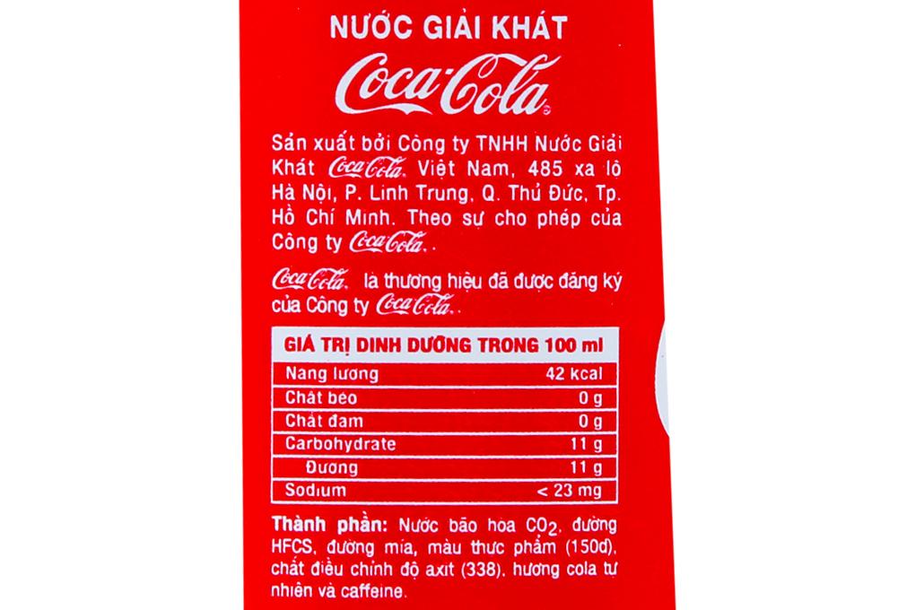 Nước ngọt có gas CoCa Cola chai 390ml