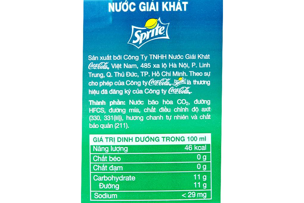 Nước ngọt Sprite hương Chanh chai 1.5 lít