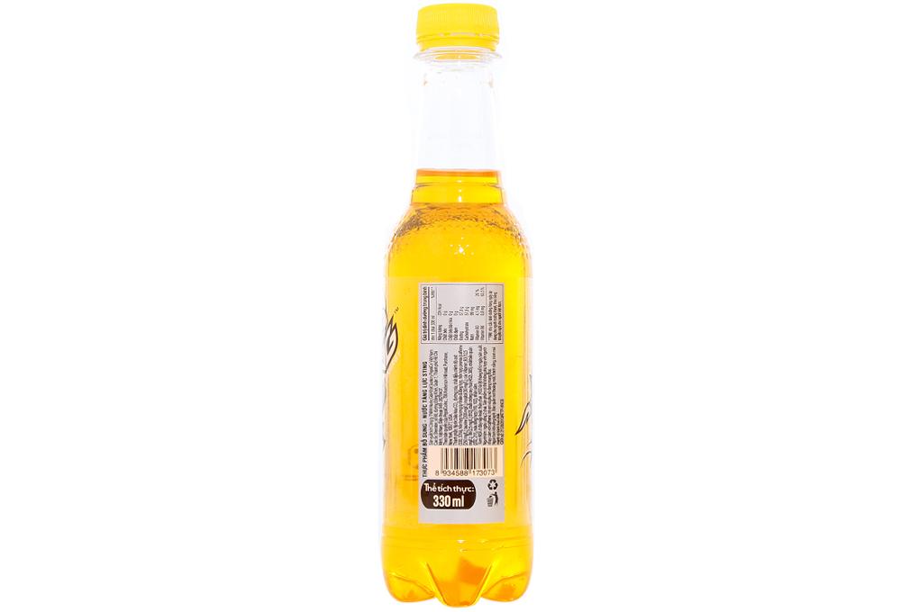 Nước tăng lực Sting vàng chai 330ml
