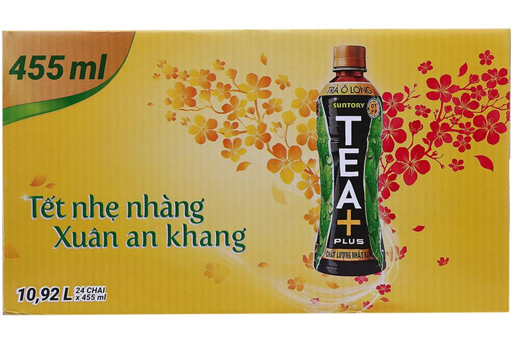 Trà Ô Long Tea+ chai 455ml (thùng 24 chai)