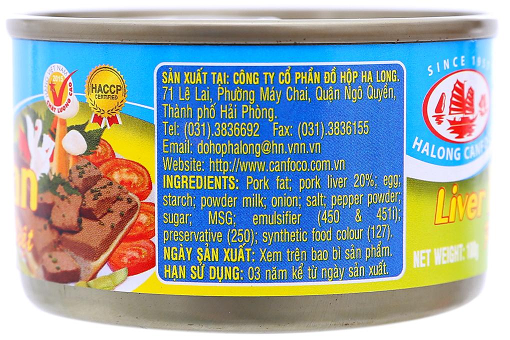 Pate gan đặc biệt Hạ Long lon 100g