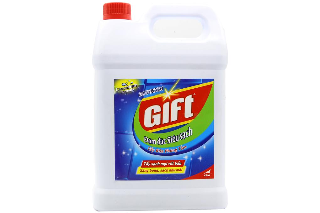 Nước rửa nhà tắm Gift đậm đặc siêu sạch can 4kg