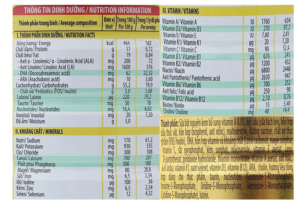 Sữa bột NutiFood IQ Gold Step 3 hộp thiếc 900g (cho bé 1-2 tuổi)