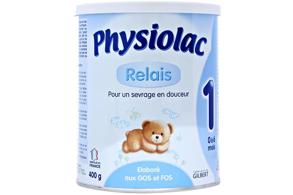 Sữa bột Physiolac Relais 1 hộp thiếc 400g (cho bé 0-6 tháng)