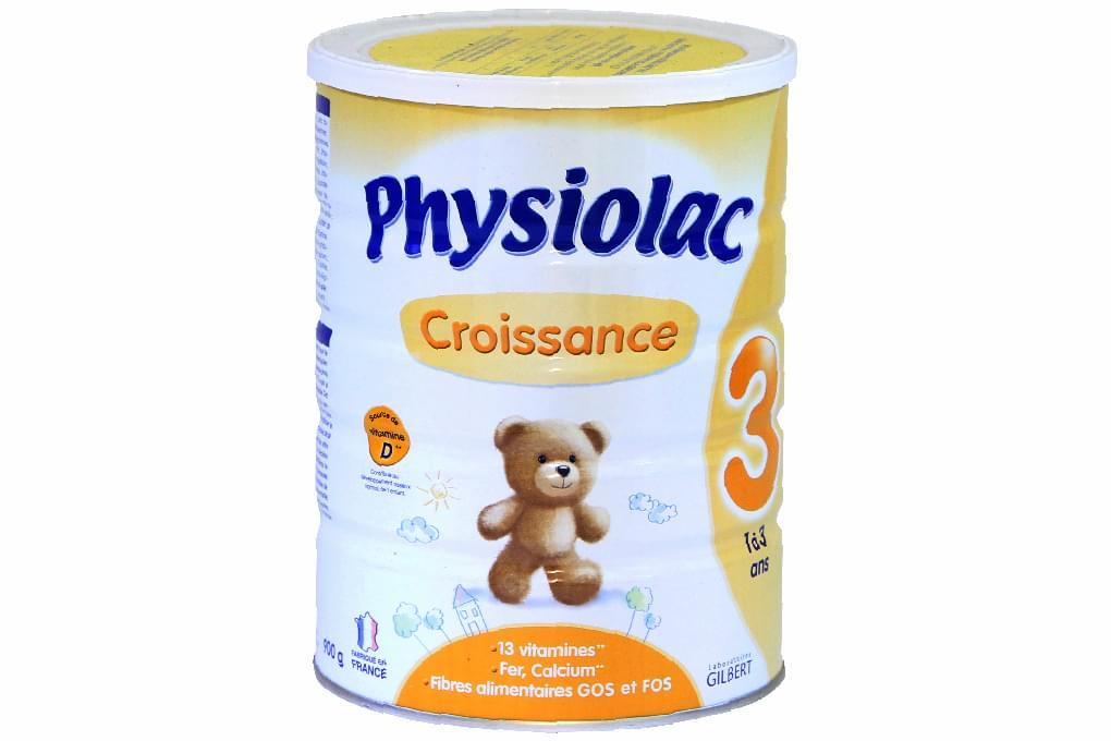 Sữa bột Physiolac Croissance 3 900g (cho bé 1-3 tuổi)