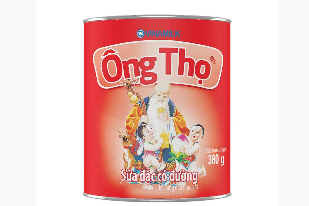 Sữa đặc có đường Ông Thọ nhãn đỏ lon 380g