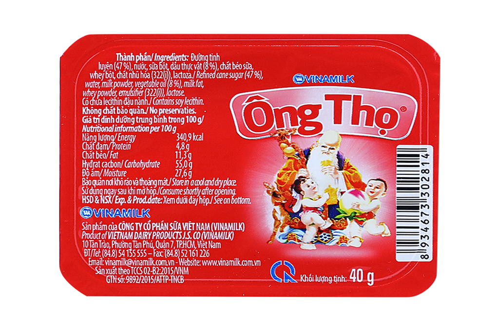 Sữa đặc có đường Ông Thọ nhãn đỏ hộp 40g