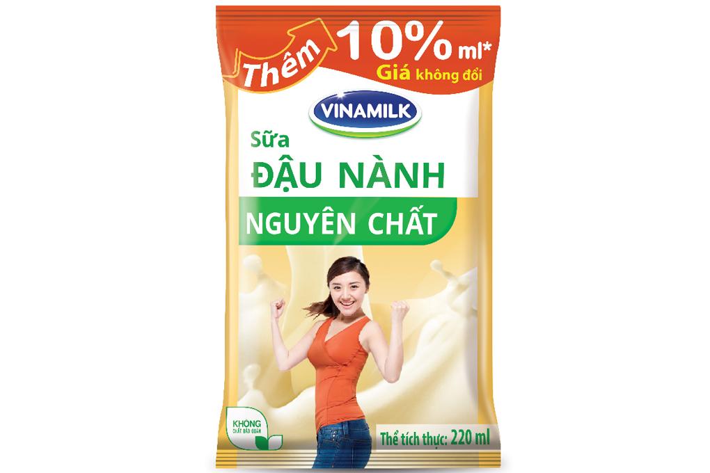 Sữa đậu nành Vinamilk nguyên chất bịch 220ml