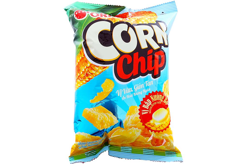 Snack Corn Chip vị bắp nướng bơ gói 38g