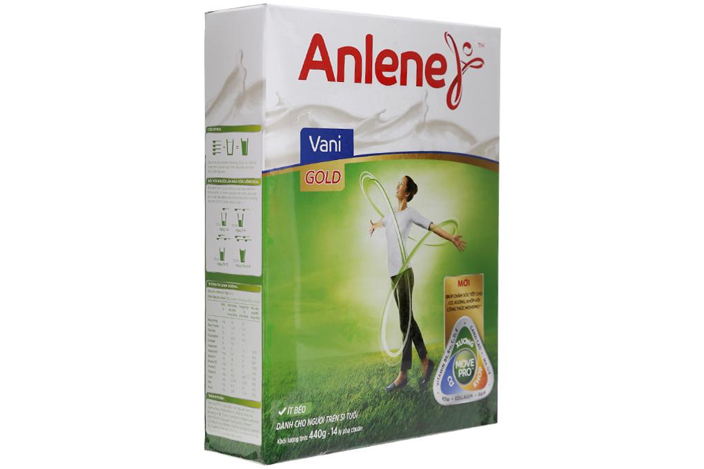 Sữa bột Anlene MovePro Gold Vani hộp 440g (Trên 51 tuổi)