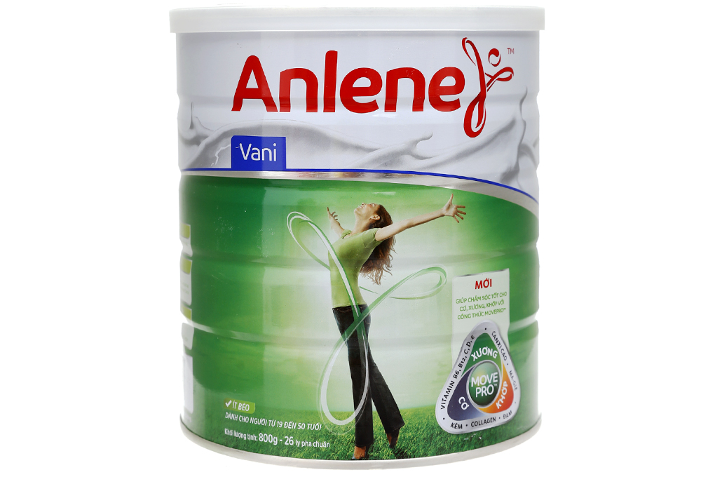 Sữa bột Anlene MovePro Gold Vani lon 800g (Từ 19-50 tuổi)