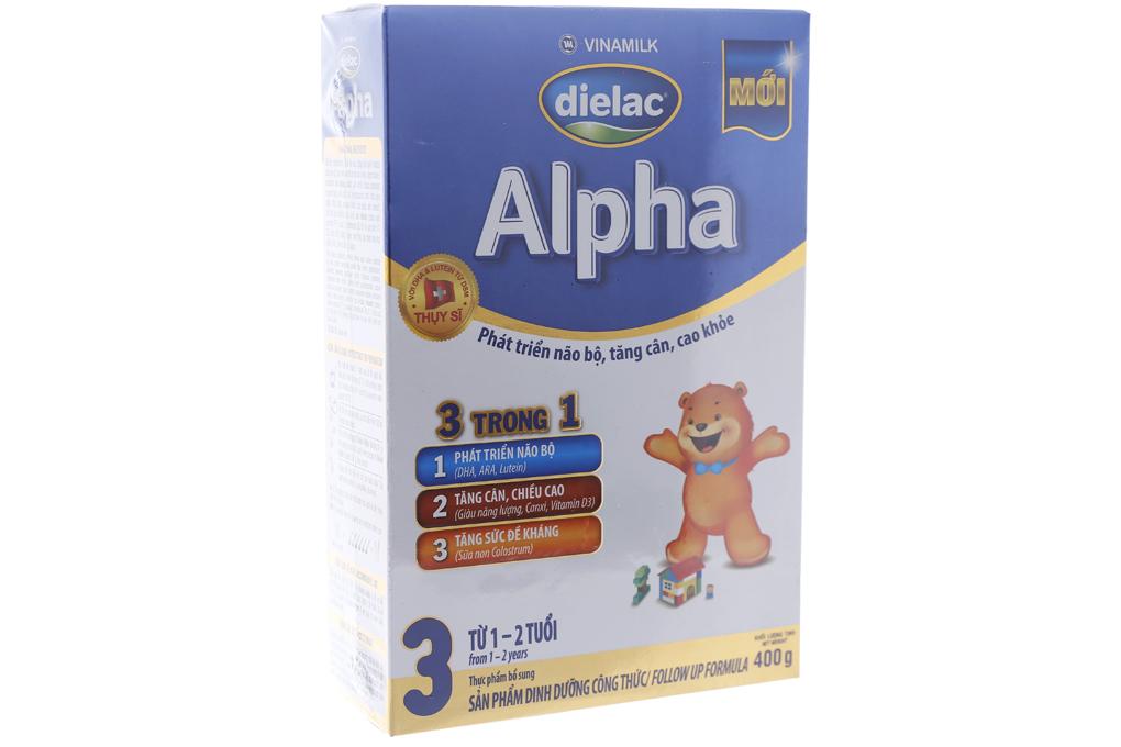 Sữa bột Dielac Alpha 3 hộp 400g (cho bé 1-2 tuổi)