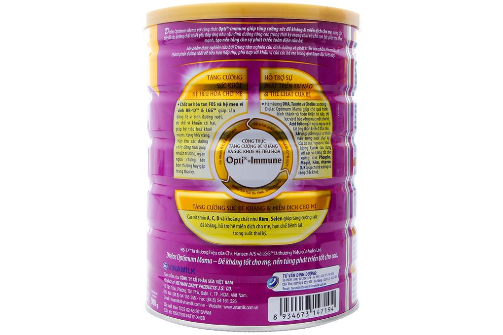 Sữa bột Dielac Optimum Mama lon 900g
