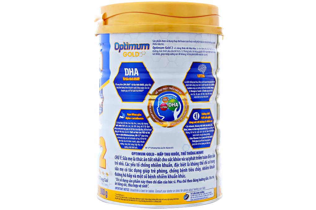 Sữa bột Optimum Gold 2 hộp 900g (cho bé 6 -12 tháng)
