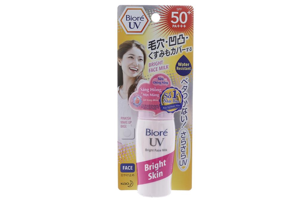 Sữa Chống Nắng Biore Sáng Hồng Tự Nhiên SPT50 30ml