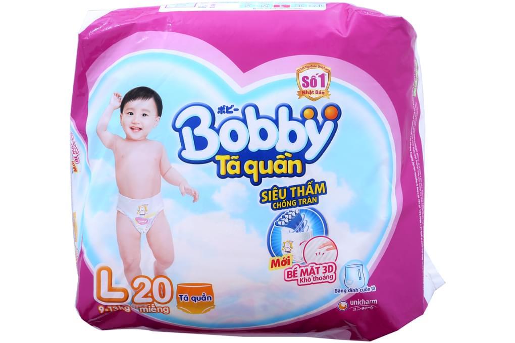 Tã quần Bobby size L 23 miếng (bé 9-13kg)