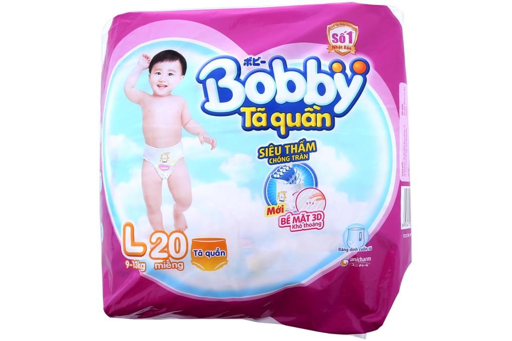 Tã quần Bobby size L 20 miếng (bé 9-13kg)
