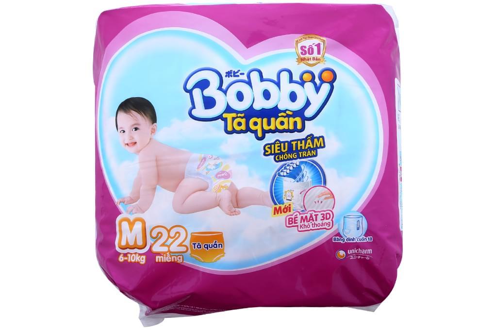 Tã quần Bobby size M 22 miếng (bé 6-10kg)