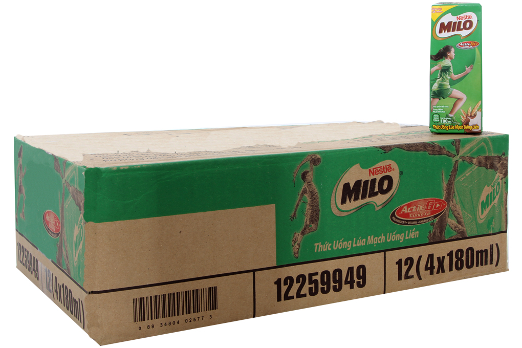 Thức uống lúa mạch Nestle Milo hộp 180ml