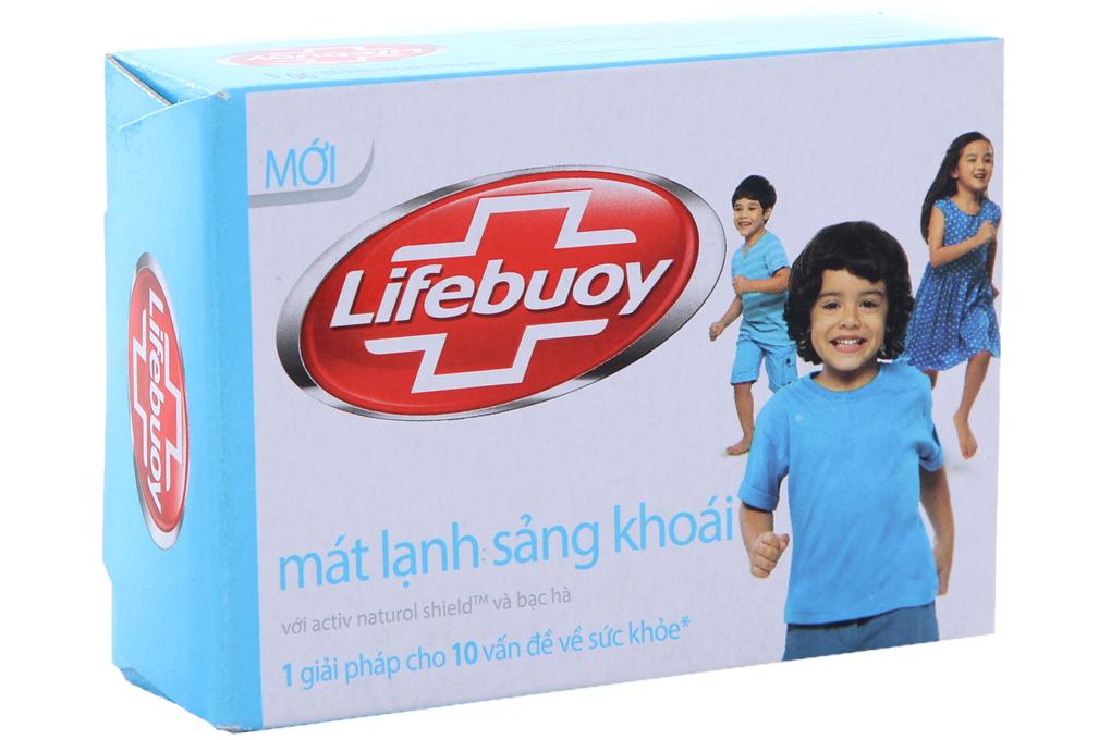 Xà bông cục Lifebuoy Mát lạnh sảng khoái hộp 90g