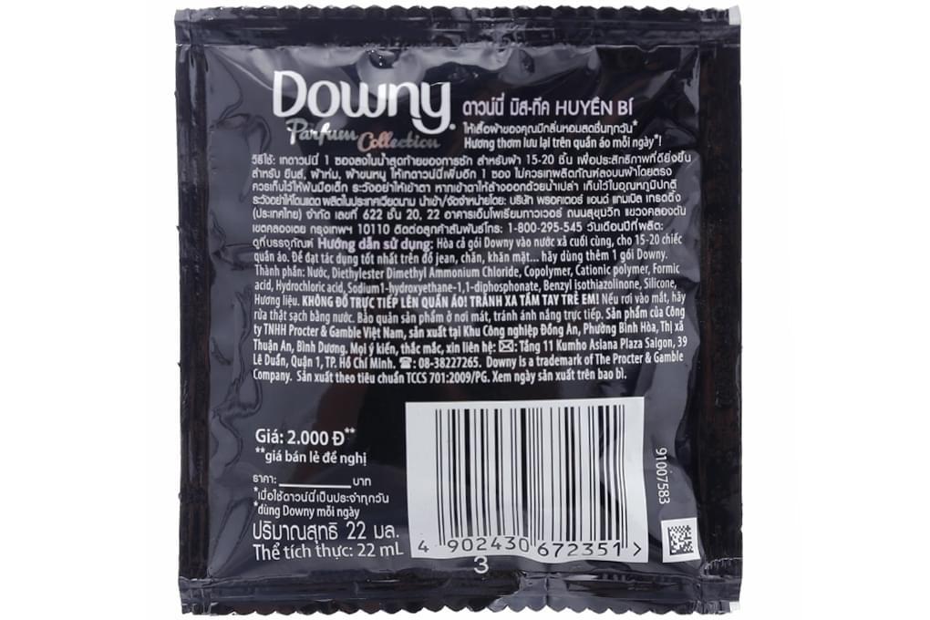 Nước xả Downy Huyền Bí gói 22ml (dây 10 gói)