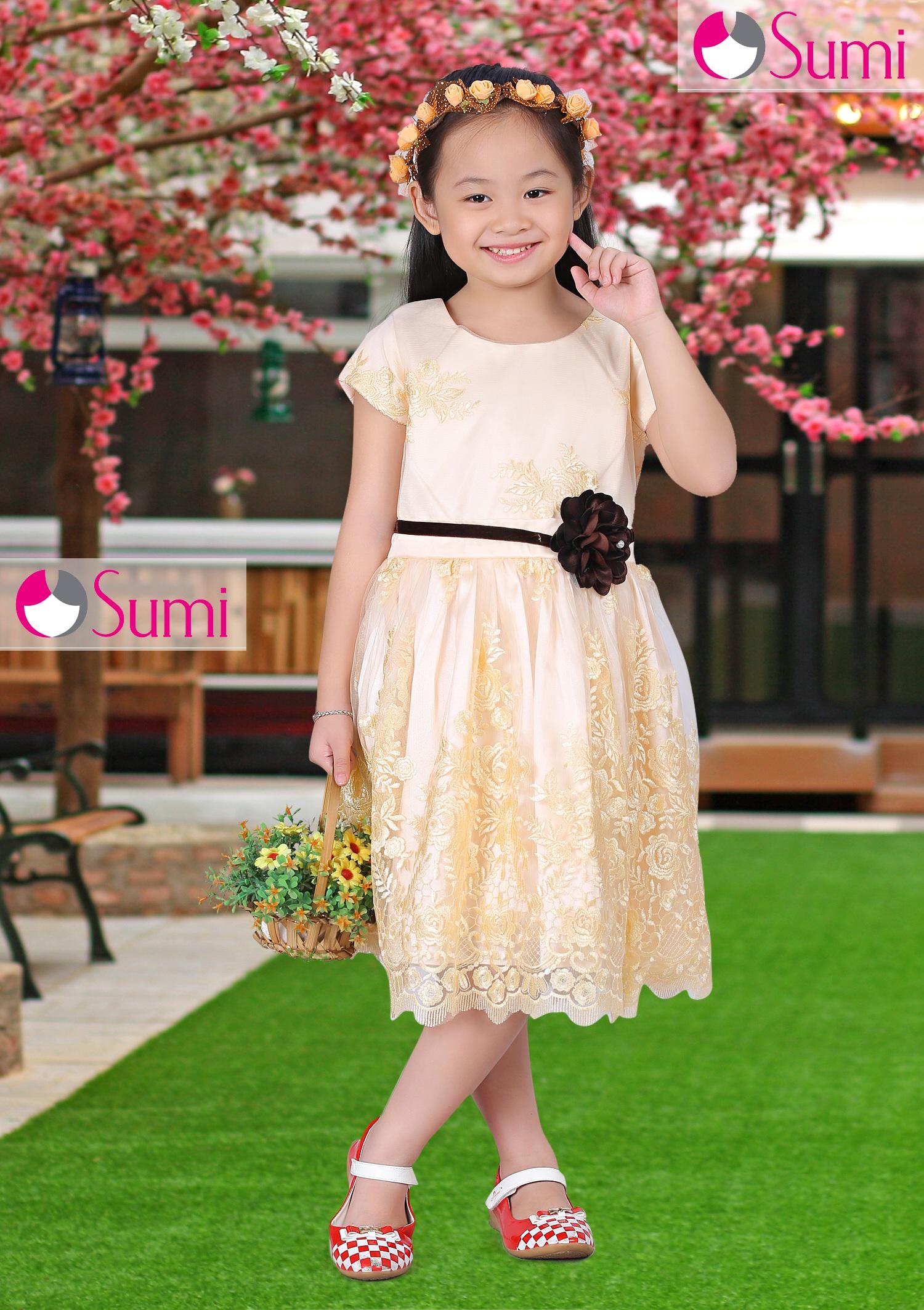Đầm công chúa cao cấp SUMI ren hoa
