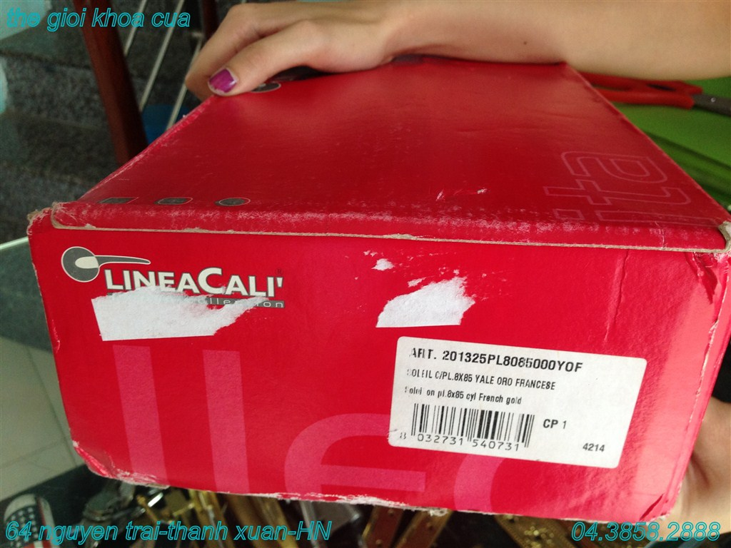 hộp khóa cửa cao cấp linecali - italy - dòng Solied