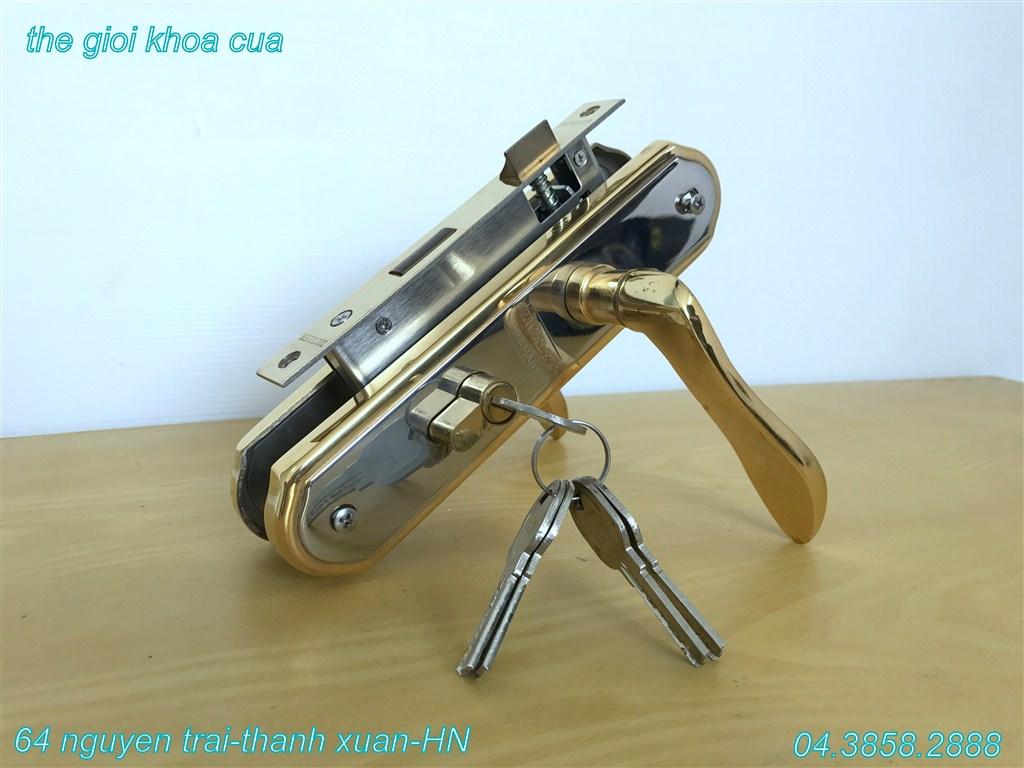 Hình ảnh khóa inox mạ vàng ZL gold 66