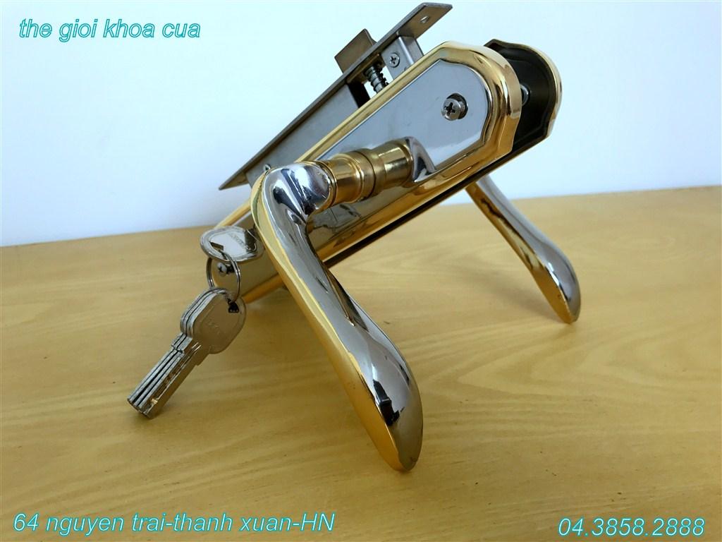 Hình ảnh mẫu khóa inox mạ vàng ZL gold 66