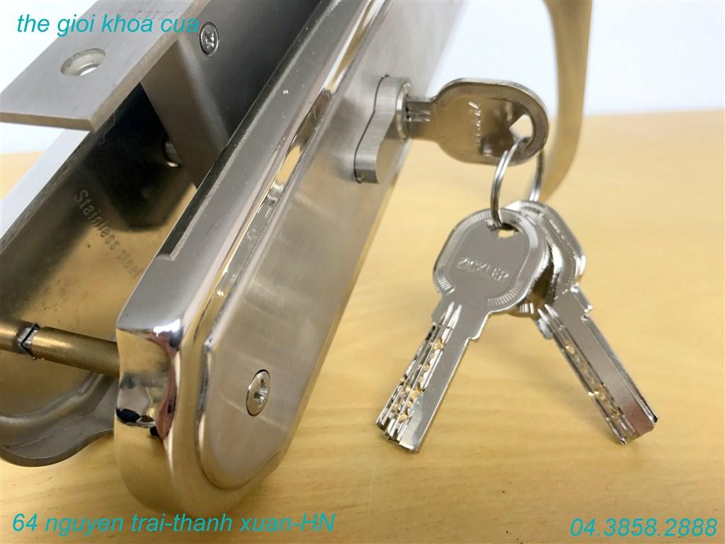 khóa cửa chính inox ZL 7
