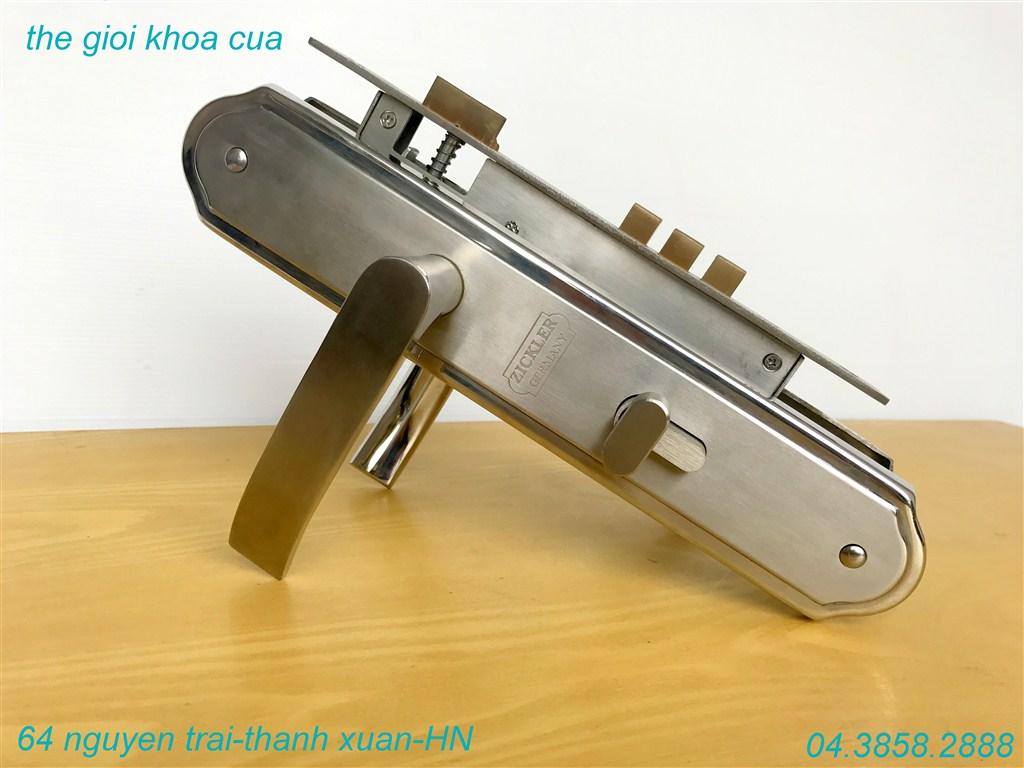 ảnh mẫu khóa cửa chính inox zl 7