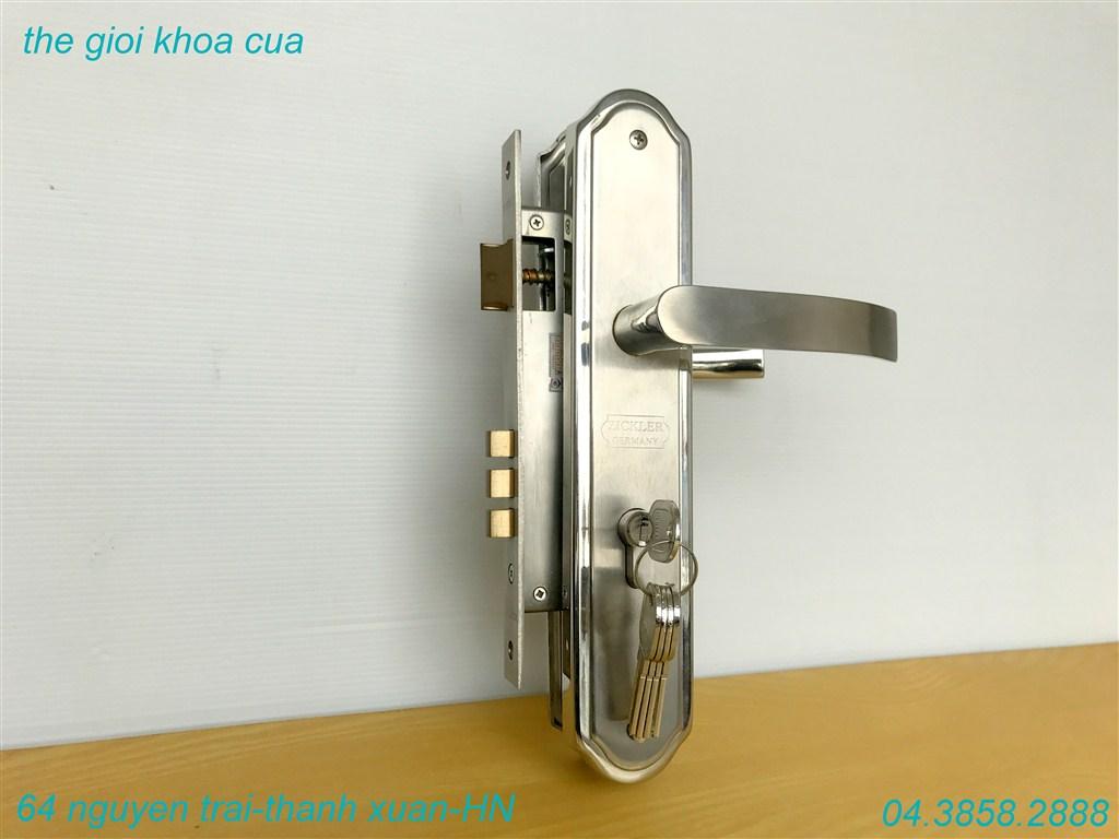mẫu khóa cửa chính inox zl 7