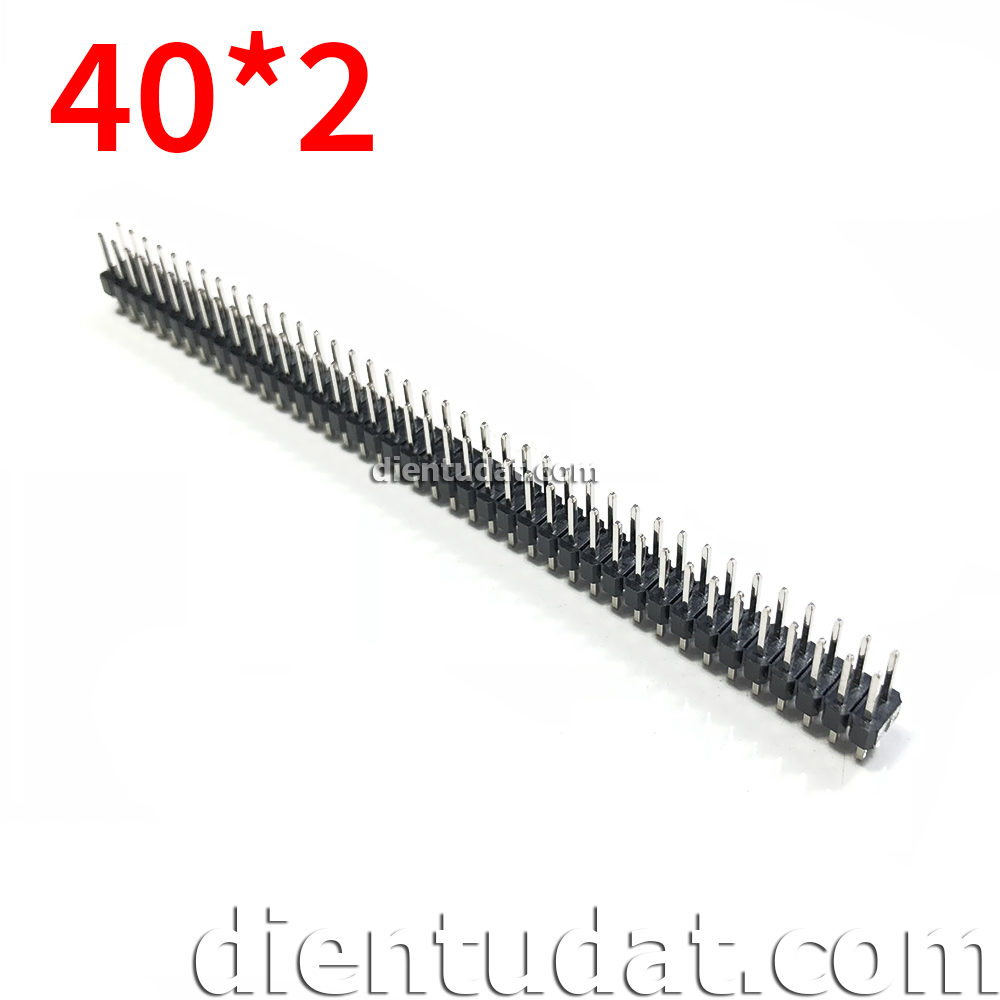Header 2*40 Pin Male 2.54mm - Dài