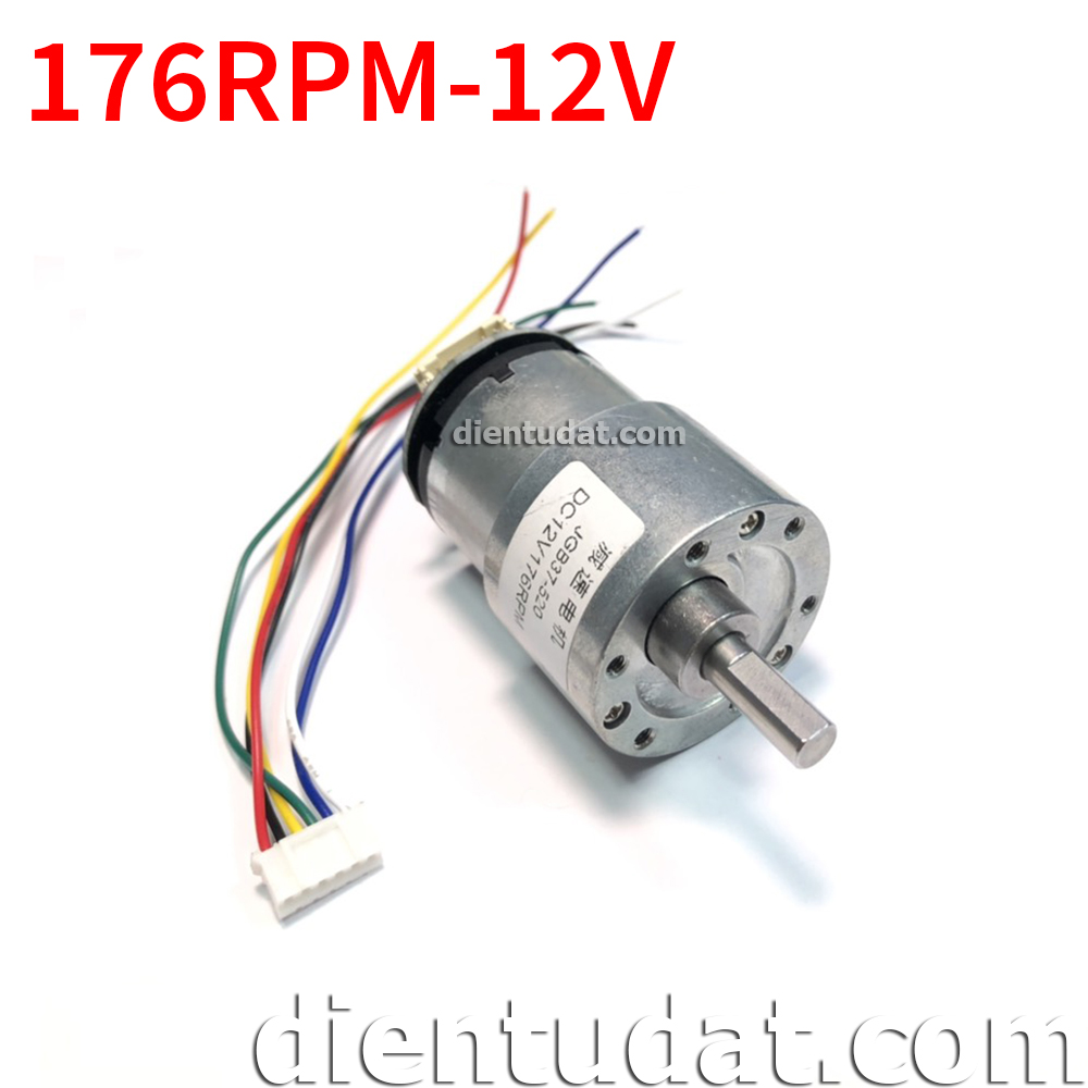 Motor Encorder 176RPM JGB37-520-12V