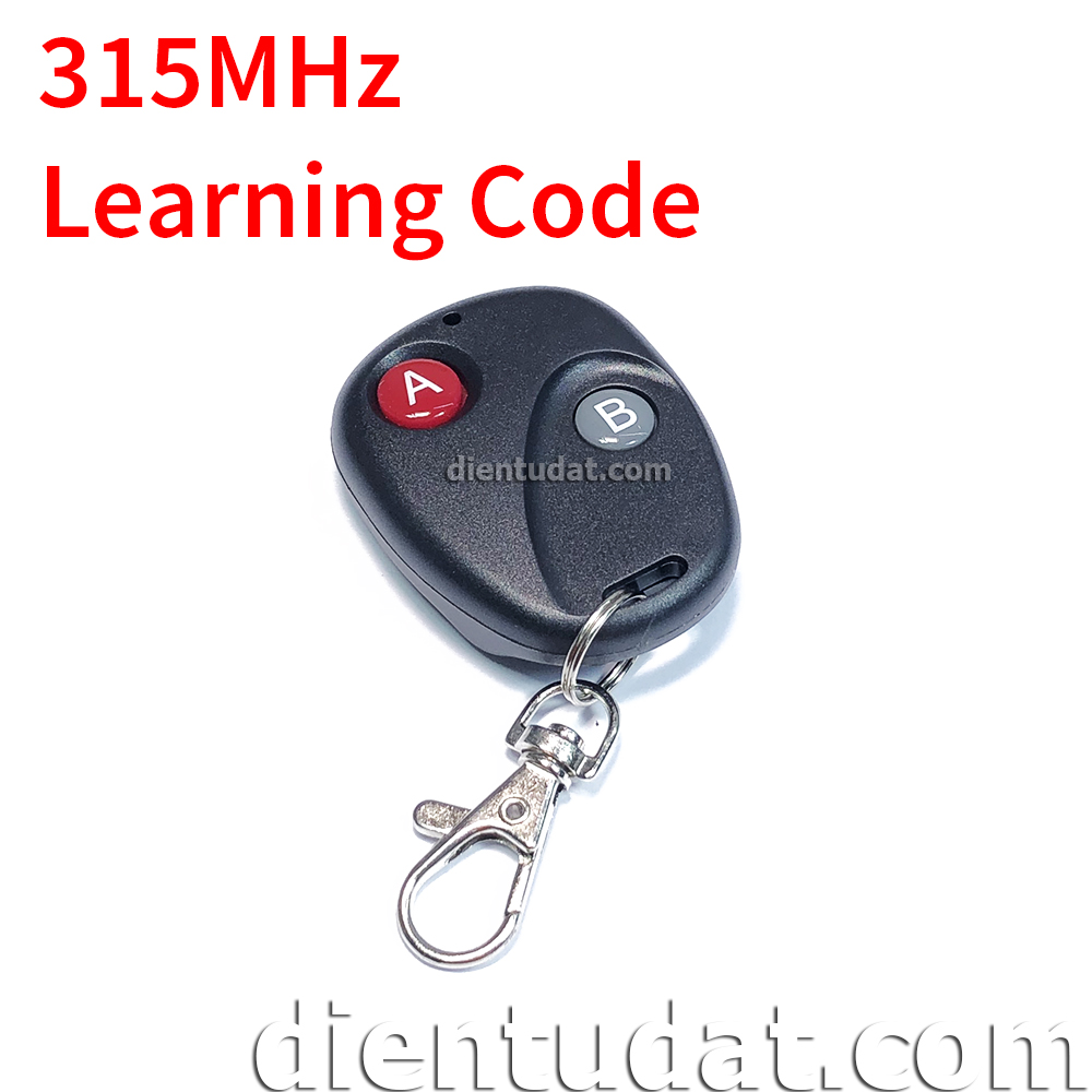 Remote Tròn 2 Nút 315/433MHz Learning/Fixed Code - WT548
