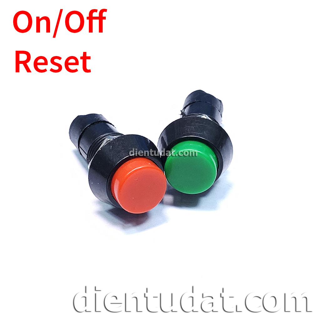 Nút Nhấn Bập Bênh ON/OFF - Reset 3A PBS-11A