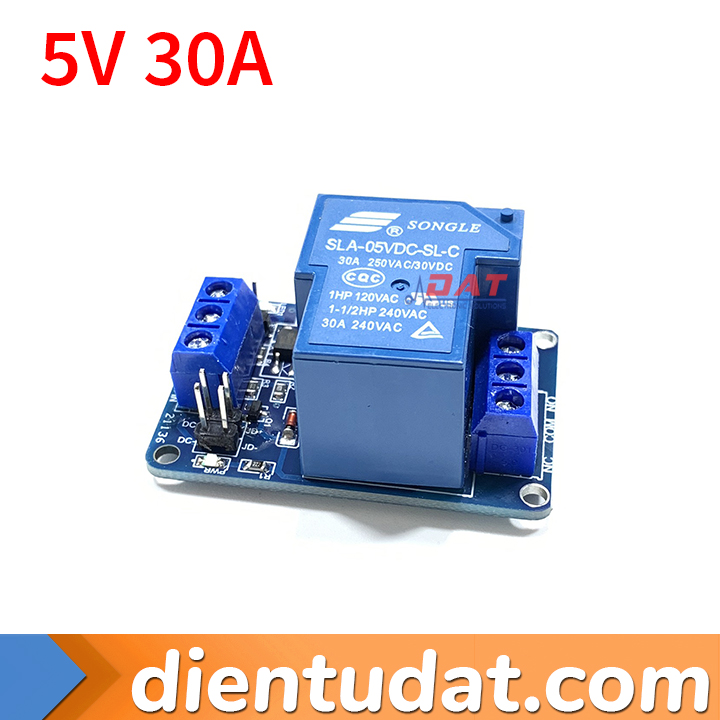 Module 1 Relay 30A - 5V Kích High/Low HTC