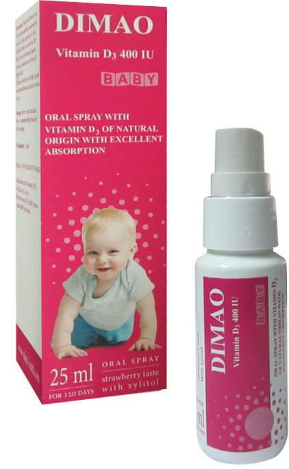 Dimao – Vitamin D3 dạng xịt định liều, nhập khẩu từ Châu Âu