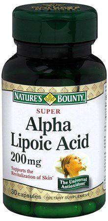 Viên chống lão hóa (chống oxi hóa) Alpha Lipoic Acid 200mg - Hiệu Nature's Bounty - Lọ 30 viên nang