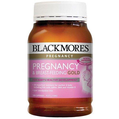 Vitamin tổng hợp Blackmores Pregnancy and Breastfeeding Gold, lo 180 viên nang