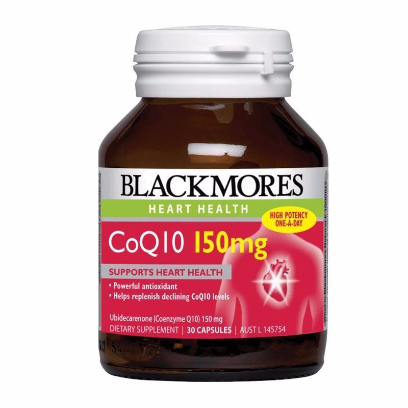 CoQ10 150mg Blackmore hỗ trợ tim mạch, lọ 30 viên